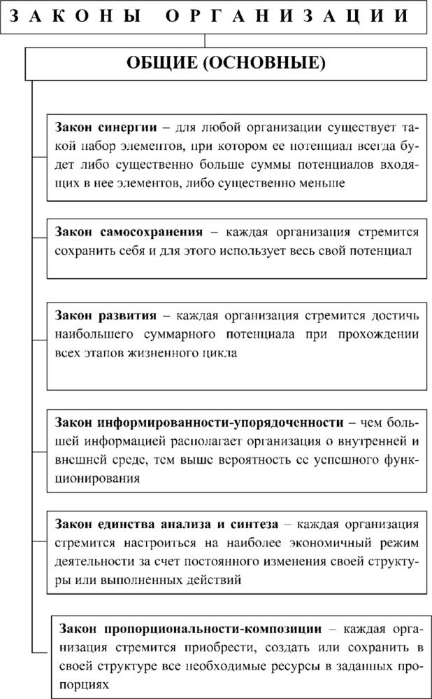 Принципы и законы организации курсовая работа 6554