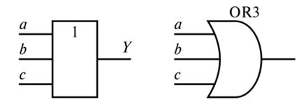 Обозначения элементов ИЛИ для трех входов