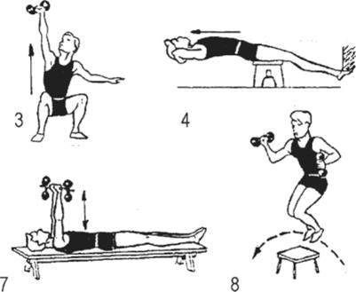 Упражнения амосова в картинках гантельная гимнастика