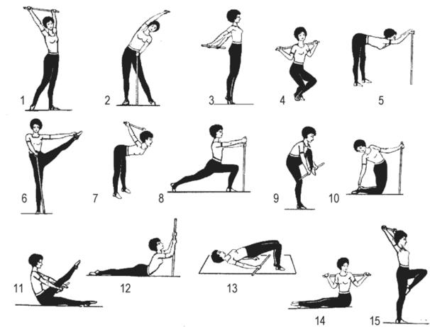 Картинки с упражнениями с гимнастическими палками