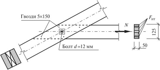 Б.4. К примеру 6.2. Крепление затяжки к поясу фермы
