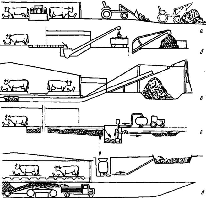 Погрузка навоза транспортером чистка конвейеров