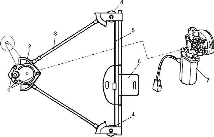 Стеклоподъемник передней двери